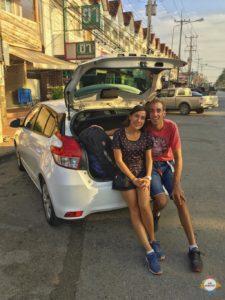 wir am Auto