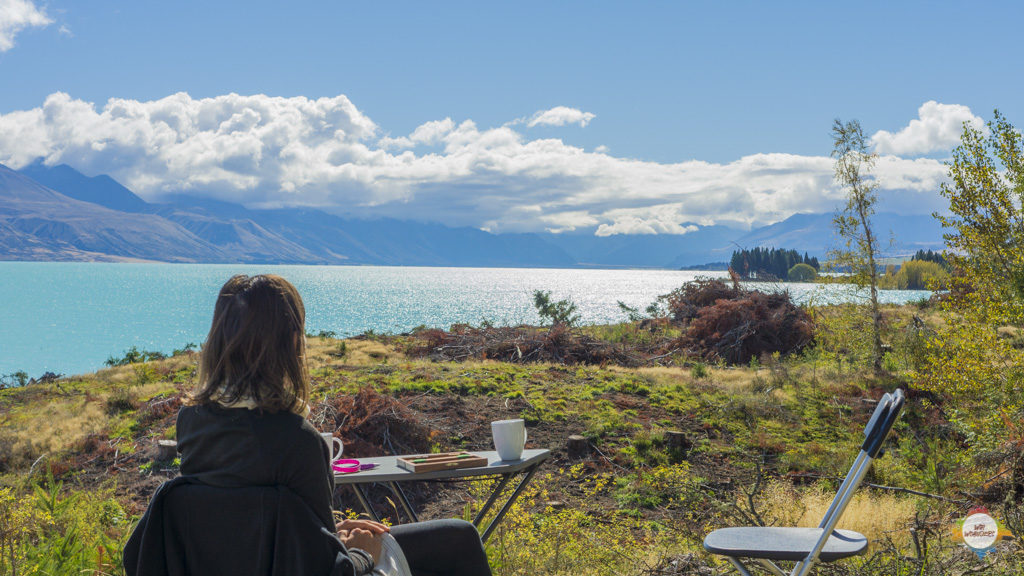 view from the desk to aoraki