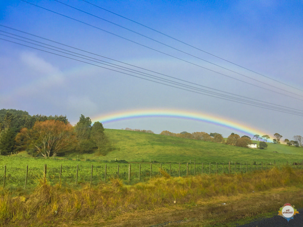 double rainbow at Auckland