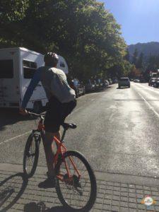 cycling start at Hanmer Village