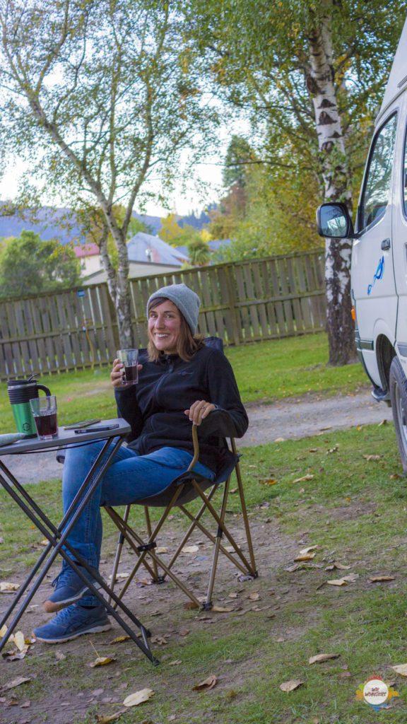 Camping at Top10 Hanmer Springs