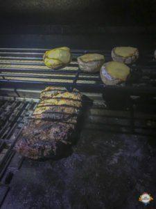 Lamp ready on BBQ