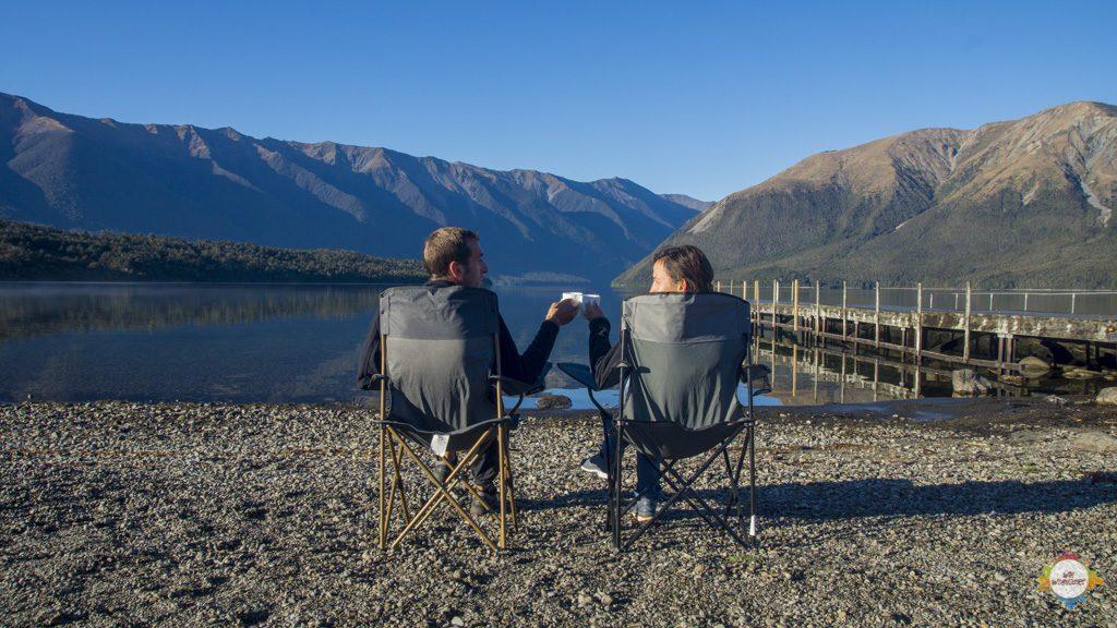 Ilka & Helge at Lake Rotoiti