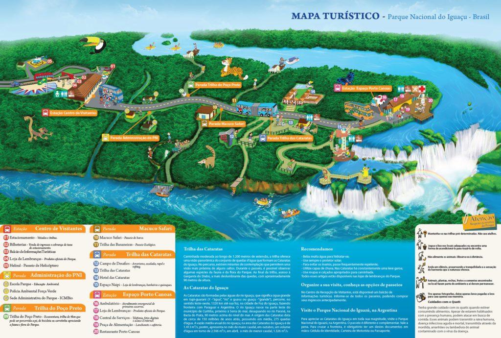 Karte der Iguazu Falls - Brasil